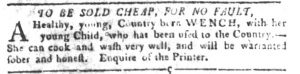 Sep 18 1770 - South-Carolina Gazette and Country Journal Slavery 7