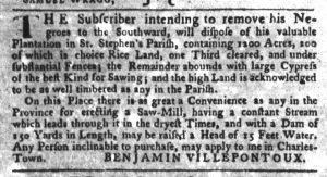 Sep 20 1770 - South-Carolina Gazette Slavery 4