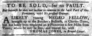Sep 20 1770 - South-Carolina Gazette Slavery 5