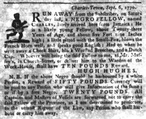 Sep 20 1770 - South-Carolina Gazette Slavery 6