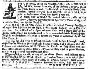 Sep 20 1770 - South-Carolina Gazette Supplement Slavery 1