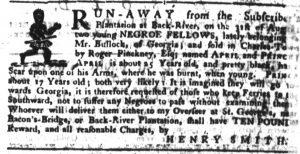 Sep 20 1770 - South-Carolina Gazette Supplement Slavery 3