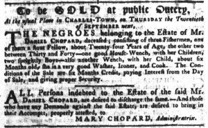 Sep 20 1770 - South-Carolina Gazette Supplement Slavery 4