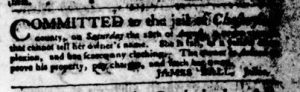 Sep 20 1770 - Virginia Gazette Purdie & Dixon Slavery 2