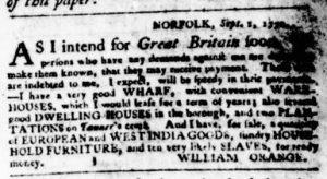Sep 20 1770 - Virginia Gazette Purdie & Dixon Slavery 3