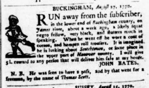 Sep 20 1770 - Virginia Gazette Purdie & Dixon Slavery 5