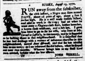Sep 20 1770 - Virginia Gazette Purdie & Dixon Slavery 6