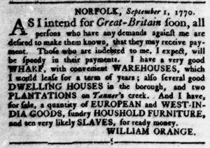 Sep 20 1770 - Virginia Gazette Rind Slavery 3