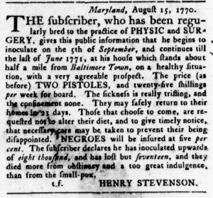 Sep 20 1770 - Virginia Gazette Rind Slavery 7