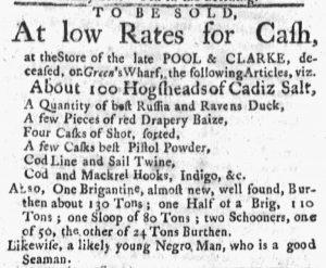 Sep 24 1770 - Masssachusetts Gazette and Boston Post-Boy Slavery 1