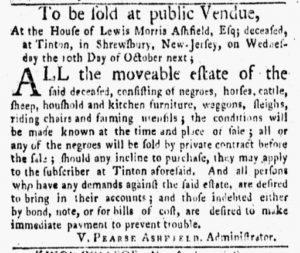 Sep 24 1770 - New-York Gazette and Weekly Mercury Slavery 3