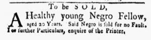 Sep 24 1770 - New-York Gazette and Weekly Mercury Slavery 4