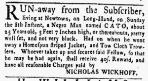 Sep 24 1770 - New-York Gazette and Weekly Mercury Slavery 5