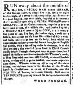 Sep 24 1770 - South-Carolina and American General Gazette Slavery 1