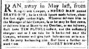 Sep 24 1770 - South-Carolina and American General Gazette Slavery 2