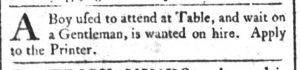 Sep 24 1770 - South-Carolina and American General Gazette Slavery 4