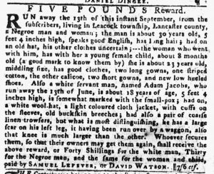 Sep 27 1770 - Pennsylvania Gazette Slavery 2