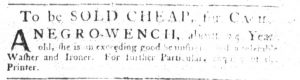 Sep 27 1770 - South-Carolina Gazette Slavery 2