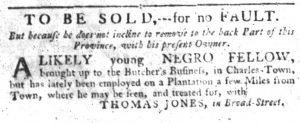 Sep 27 1770 - South-Carolina Gazette Slavery 4