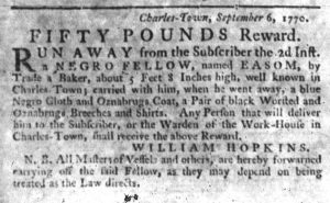 Sep 27 1770 - South-Carolina Gazette Slavery 6
