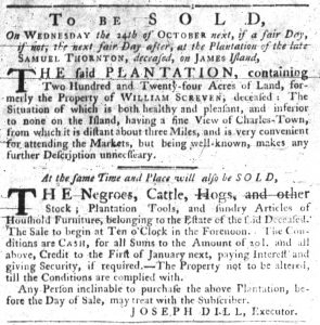 Sep 27 1770 - South-Carolina Gazette Slavery 7