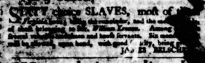 Sep 27 1770 - Virginia Gazette Purdie & Dixon Slavery 1