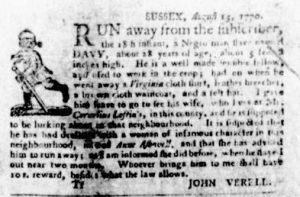 Sep 27 1770 - Virginia Gazette Purdie & Dixon Slavery 5