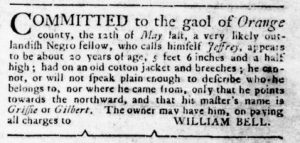 Sep 27 1770 - Virginia Gazette Rind Slavery 2