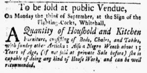 Sep 3 1770 - New-York Gazette and Weekly Mercury Slavery 4