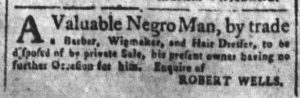 Sep 3 1770 - South-Carolina and American General Gazette Slavery 3