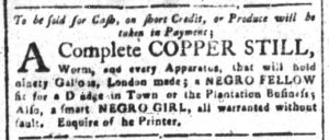 Sep 3 1770 - South-Carolina and American General Gazette Slavery 4