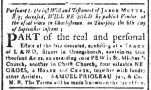 Sep 3 1770 - South-Carolina and American General Gazette Slavery 5