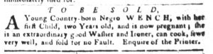 Sep 4 1770 - South-Carolina Gazette and Country Journal Slavery 3