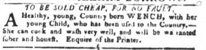 Sep 4 1770 - South-Carolina Gazette and Country Journal Slavery 4