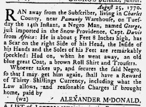 Sep 6 1770 - Maryland Gazette Slavery 2