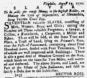 Sep 6 1770 - Maryland Gazette Slavery 3