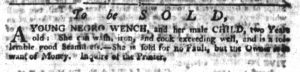 Sep 6 1770 - South-Carolina Gazette Continuation Slavery 1