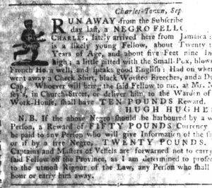 Sep 6 1770 - South-Carolina Gazette Slavery 2