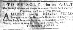 Sep 6 1770 - South-Carolina Gazette Slavery 3