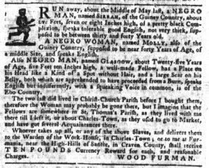 Sep 6 1770 - South-Carolina Gazette Supplement Slavery 1