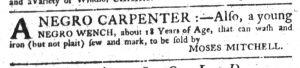 Sep 6 1770 - South-Carolina Gazette Supplement Slavery 2