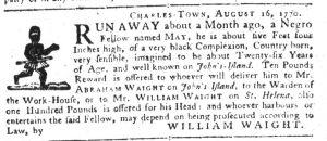 Sep 6 1770 - South-Carolina Gazette Supplement Slavery 5