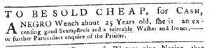 Sep 6 1770 - South-Carolina Gazette Supplement Slavery 7