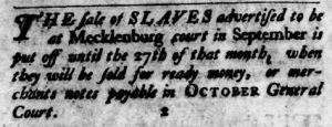 Sep 6 1770 - Virginia Gazette Purdie & Dixon Slavery 11