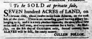 Sep 6 1770 - Virginia Gazette Purdie & Dixon Slavery 3