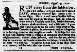 Sep 6 1770 - Virginia Gazette Purdie & Dixon Slavery 5