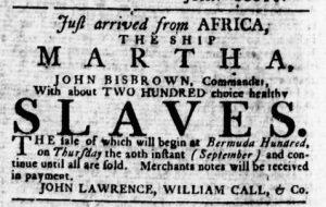 Sep 6 1770 - Virginia Gazette Rind Slavery 2