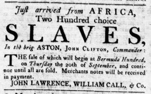 Sep 6 1770 - Virginia Gazette Rind Slavery 4