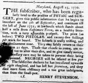 Sep 6 1770 - Virginia Gazette Rind Slavery 6