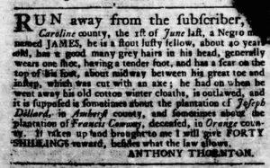 Sep 6 1770 - Virginia Gazette Rind Slavery 7